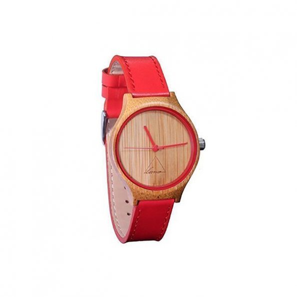 Luno Wear Hana, Bamboo Wood Leather Watch